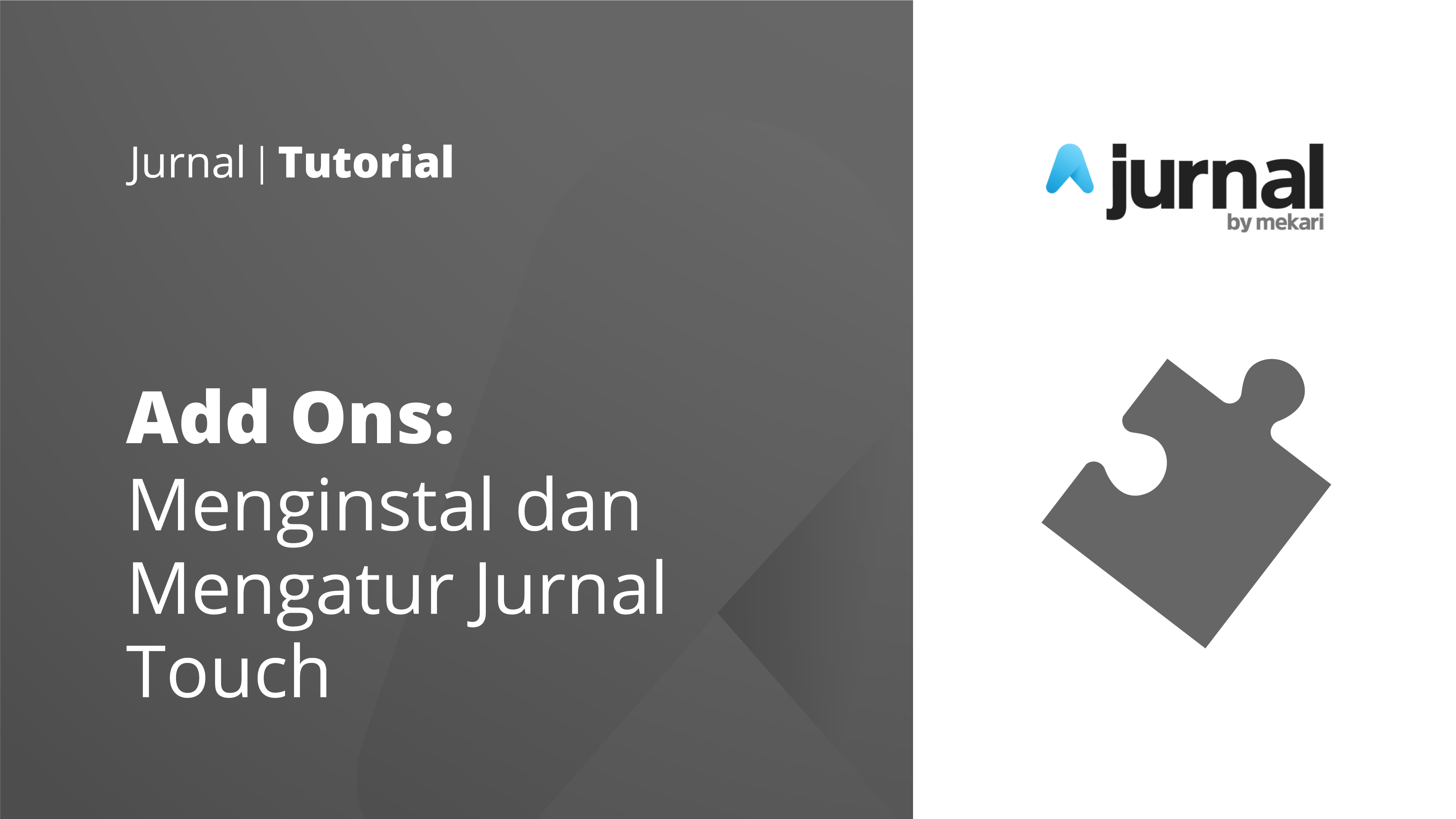 Install and Setup Jurnal Touch